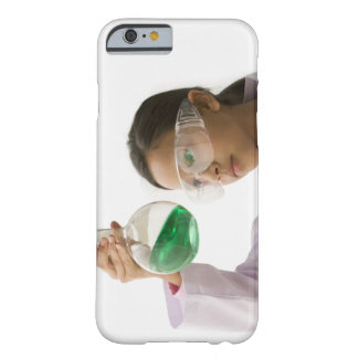 Hispanic girl looking at liquid in beaker barely there iPhone 6 case