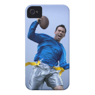 Hispanic man throwing a football iPhone 4 cover