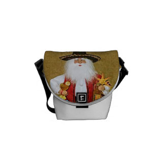 Hispanic Mexican Southwestern Texan Santa Claus Courier Bag