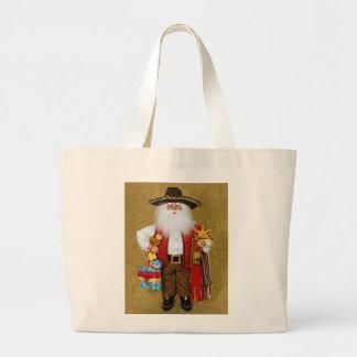 Hispanic Mexican Southwestern Texan Santa Claus Jumbo Tote Bag