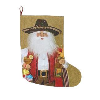 Hispanic Mexican Southwestern Texan Santa Claus Large Christmas Stocking