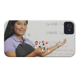 Hispanic teenaged girl in science class iPhone 4 Case-Mate cases