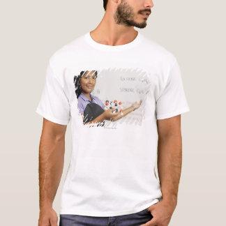 Hispanic teenaged girl in science class T-Shirt
