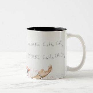 Hispanic teenaged girl in science class Two-Tone coffee mug
