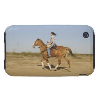 Hispanic woman riding horse 2 tough iPhone 3 covers