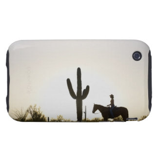 Hispanic woman riding horse tough iPhone 3 cases