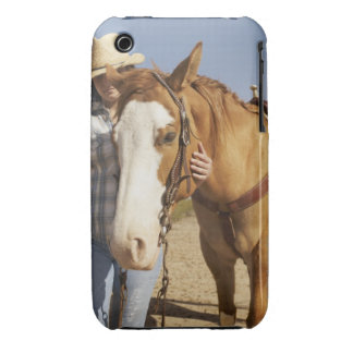 Hispanic woman standing next to horse iPhone 3 Case-Mate cases