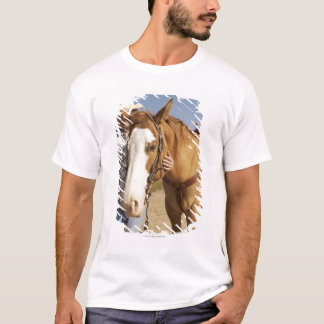 Hispanic woman standing next to horse T-Shirt