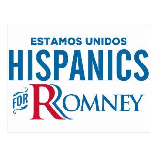 Hispanics for Romney Postcard