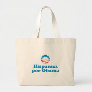 Hispanics por Obama Canvas Bags