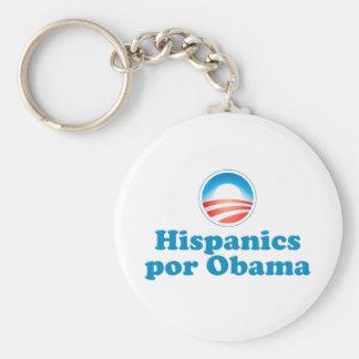 Hispanics por Obama Basic Round Button Key Ring