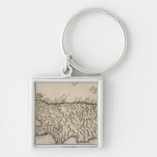 Hispaniola, St Domingo Silver-Colored Square Key Ring