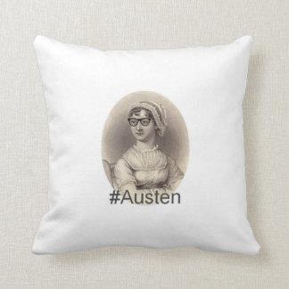 Hispter Jane Austen Throw Pillow