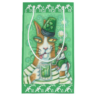 Hiss N' Fitz IRISH CAT & RAT GIFT BAG Sm