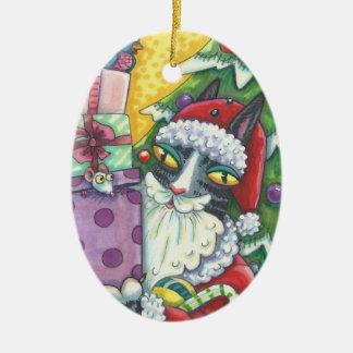 Hiss N' Fitz SANTA CAT CHRISTMAS ORNAMENT *Dated