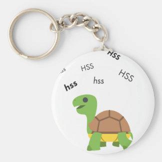 Hiss Turtle Cute Emoji Basic Round Button Key Ring