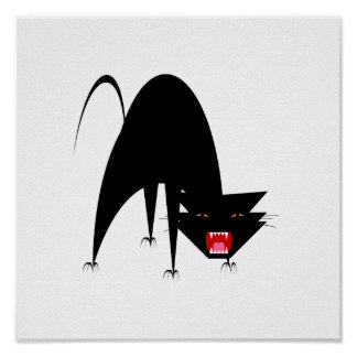 Hissing Cat Poster