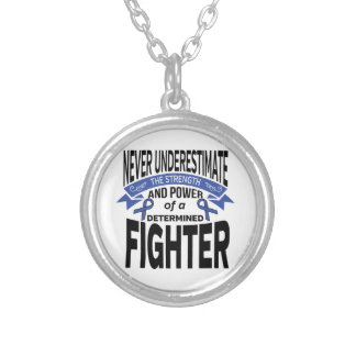 Histiocytosis Determined Fighter Round Pendant Necklace