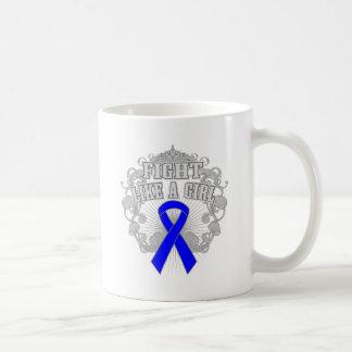 Histiocytosis Fight Like A Girl Fleurish Coffee Mugs