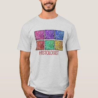 Histologist Gifts Microscope Design T-Shirt