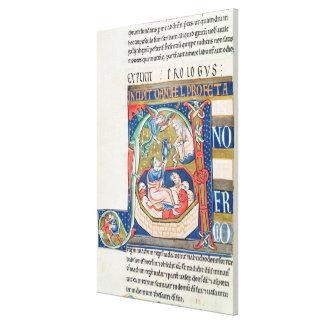 Historiated initial 'A' Depicting Daniel Canvas Print