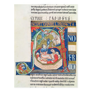 Historiated initial A Depicting Daniel Post Card