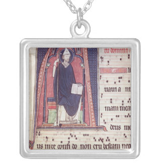 Historiated initial 'A' Silver Plated Necklace