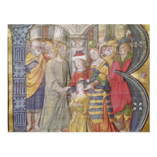 Historiated initial 'B' Post Card