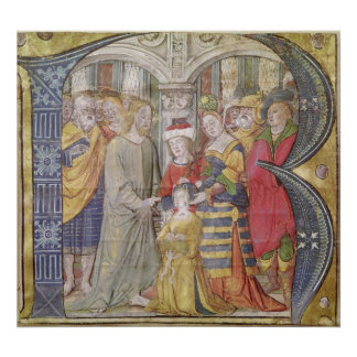 Historiated initial 'B' Poster