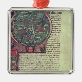 Historiated initial christmas ornament