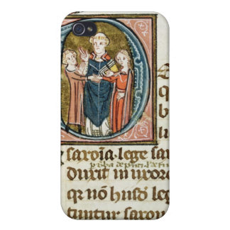 Historiated initial 'D' depicting a priest iPhone 4/4S Covers