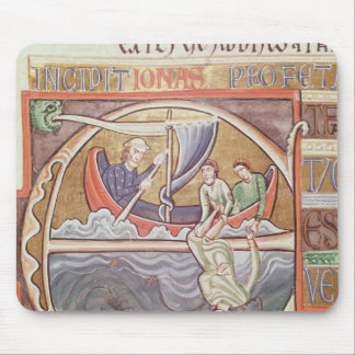 Historiated initial 'E' depicting Jonah Mouse Pad
