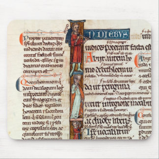 Historiated initial 'I' depicting Ruth Mouse Mat