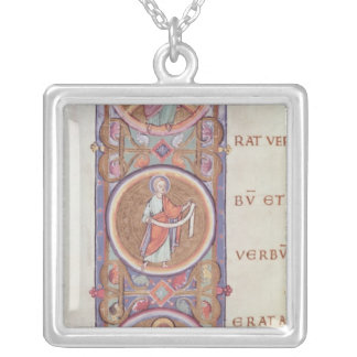 Historiated initial 'I' Silver Plated Necklace