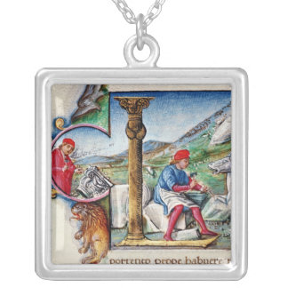 Historiated initial 'L' Silver Plated Necklace