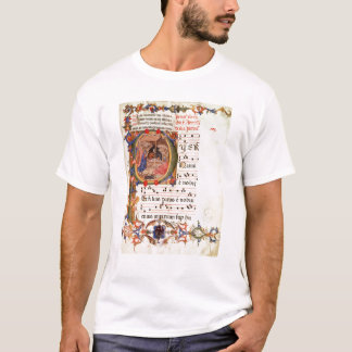 Historiated initial 'P' depicting the Nativity T-Shirt