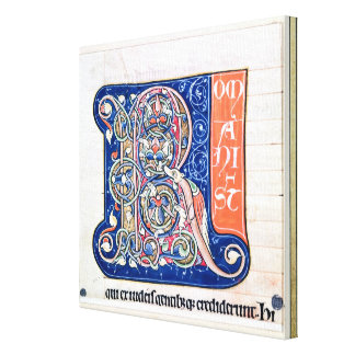 Historiated initial 'R' 2 Canvas Print