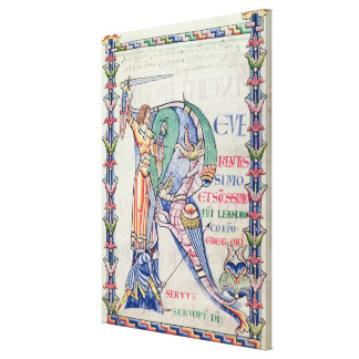 Historiated initial 'R' Canvas Print