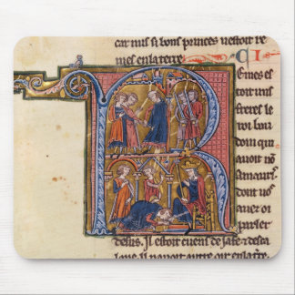 Historiated initial 'R' depicting the Sultan Mouse Mat