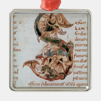 Historiated initial 'S' Christmas Ornament