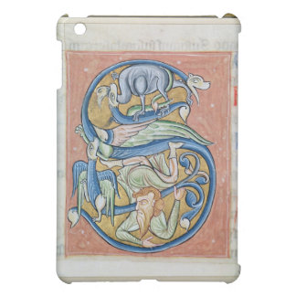 Historiated initial 'S' depicting an acrobat iPad Mini Cover