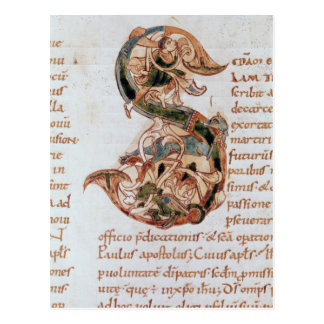 Historiated initial S Post Card