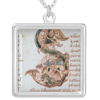 Historiated initial 'S' Silver Plated Necklace