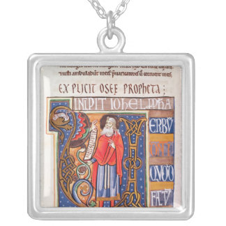 Historiated initial 'U' depicting Joel Silver Plated Necklace