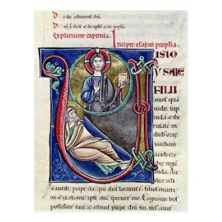 Historiated initial 'V' or 'U' Postcard