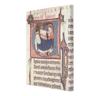Historiated initials 'U' and 'I' Canvas Print