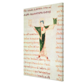 Historiated letter 'T' Canvas Print