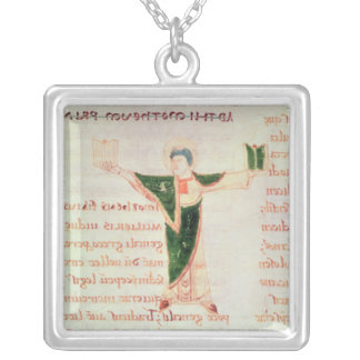 Historiated letter 'T' Silver Plated Necklace