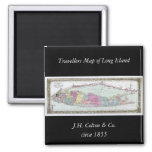 Historic 1855-1857 Travellers Map of Long Island