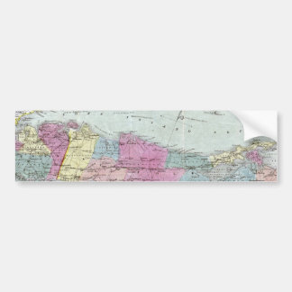 Historic 1855-1857 Travellers Map of Long Island Bumper Sticker